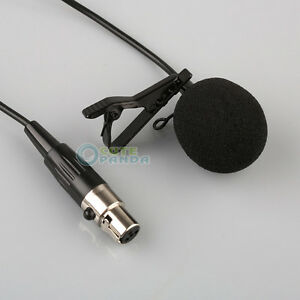 lavalier lapel tie clip microphone for shure wireless mini 4 pin xlr free ship ebay. Black Bedroom Furniture Sets. Home Design Ideas