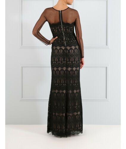 Lace Sheer Dress Overlay Cindy Black Uk Forever Sleevesblack Long Unique 6 Maxi HYq874Waw