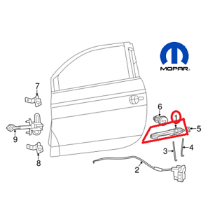 NEW-Fiat-500-12-17-Exterior-Driver-Left-Chrome-Door-Handle-OEM-Mopar-68069943AC