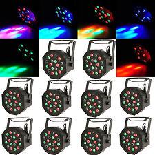 10PCS 18W RGB 18x LED Par Stage Light DMX512 DJ Disco Party Effect Wash Lighting