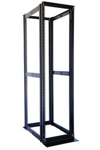42U-4-Post-Open-Frame-Server-Rack-Enclosure-19-034-Adjustable-Depth-with-one-shelf