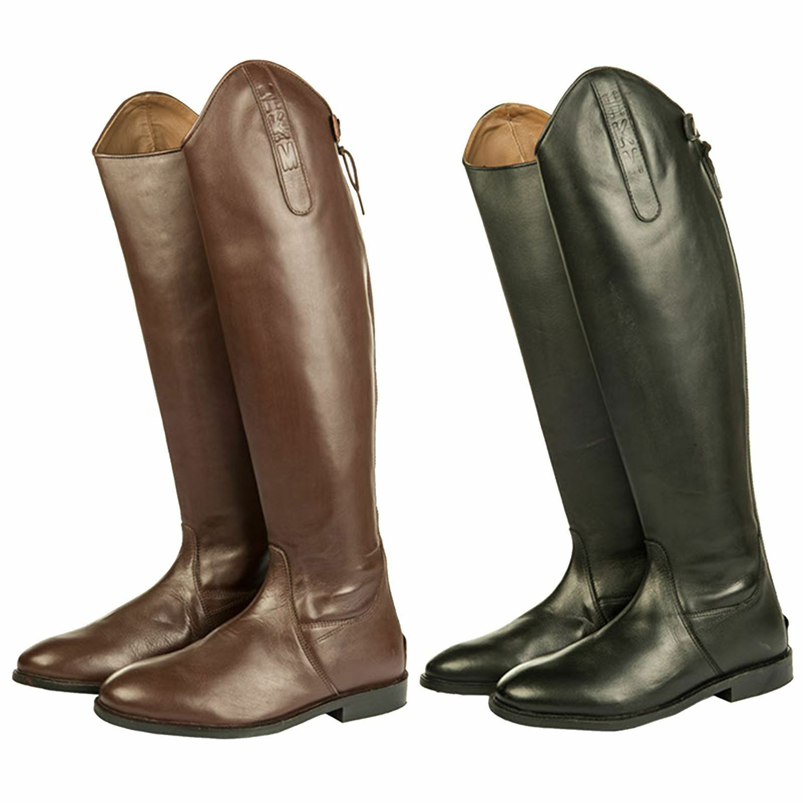 HKM Equestrian Adults  Soft Leather Narrow Width Horse Riding Long Stiefel
