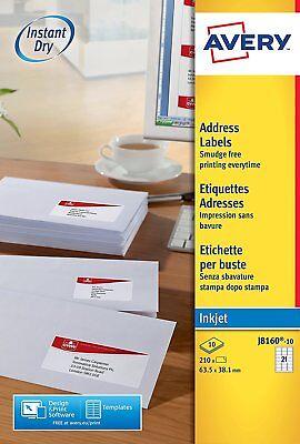 Avery L7160-100 Address//Mailing Labels 21 Labels per A4 Sheet Self Adhesive