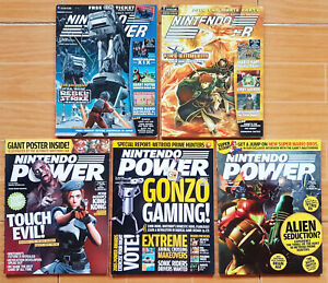 LOT-of-5-Nintendo-Power-Magazines-ISSUE-173-174-200-201-202