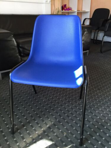 Chairs Polypropylene Stacking Easy Clean School Canteen Waiting Room Good Cond