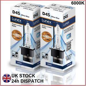 2-X-D4S-Bombilla-de-xenon-Lunex-genuina-de-reemplazo-para-Philips-GE-O-Osram-6000K