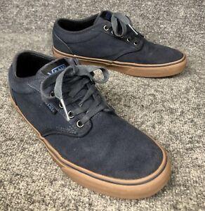vans navy blue brown laces