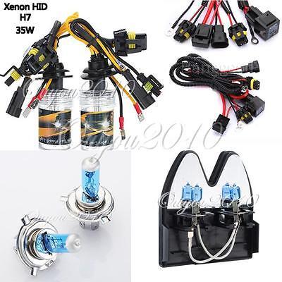 2x H3/H4/H7 Slim Xenon Ampoule AUTO HID Bulb Lampe 3000K - 12000K 35W / 100W 12V