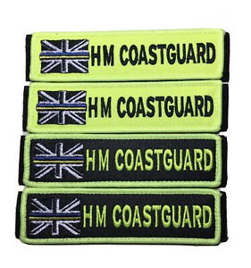 HM COASTGUARD Hi Vis Hook /& Loop Patch 125 mm X 32mm