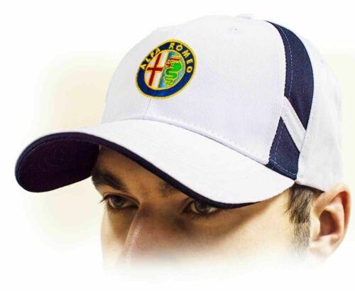 White color 100/% cotton Adjustable size ALFA ROMEO unisex Baseball Cap Hat