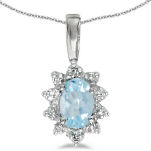 10k-White-Gold-Oval-Aquamarine-And-Diamond-Pendant-with-18-034-Chain