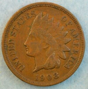 1908-Indian-Head-Cent-Penny-Very-Nice-Old-Coin-Fast-S-amp-H-426