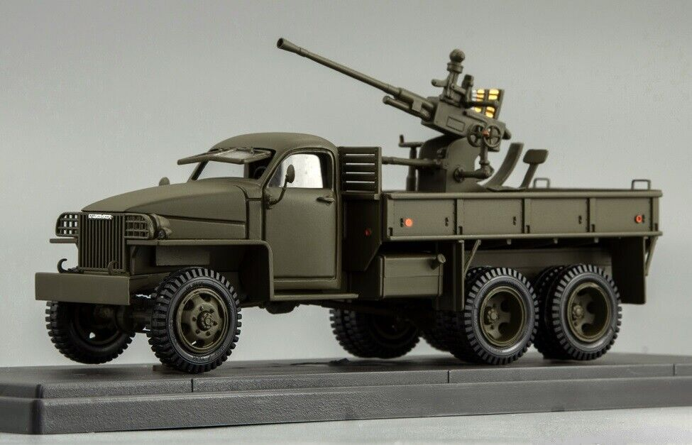 MINICLASSIC 1 43. Studebaker  US6 With Antiaircraft Gun WWII. RARE  profitez d'une réduction de 30 à 50%
