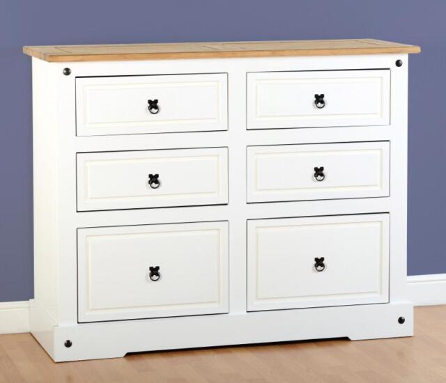 Corona blanco 6 cajonera - 6 almacenaje dormitorio mexicana muebles ...