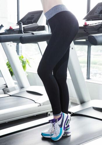Ladies Running Jogging Elastic Leggings High Waist Yoga Sport Gym Pants Trousers