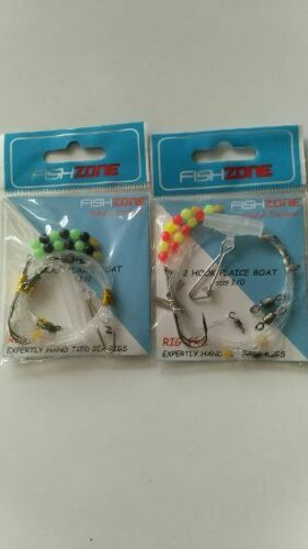 2 HOOK PLAICE BOAT RIG  SIZE 1//0