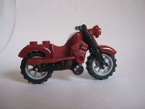 Lego MOTORCYCLE Dirt Bike for Minifigures to Ride RED