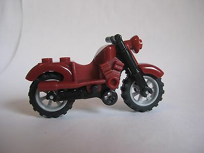 BLACK Lego MOTORCYCLE Dirt Bike for Minifigures to Ride