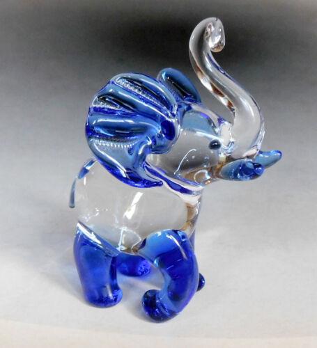 Elefant Glastier Elefant aus Glas Glasfigur Glaselefant Handmade Qualität !