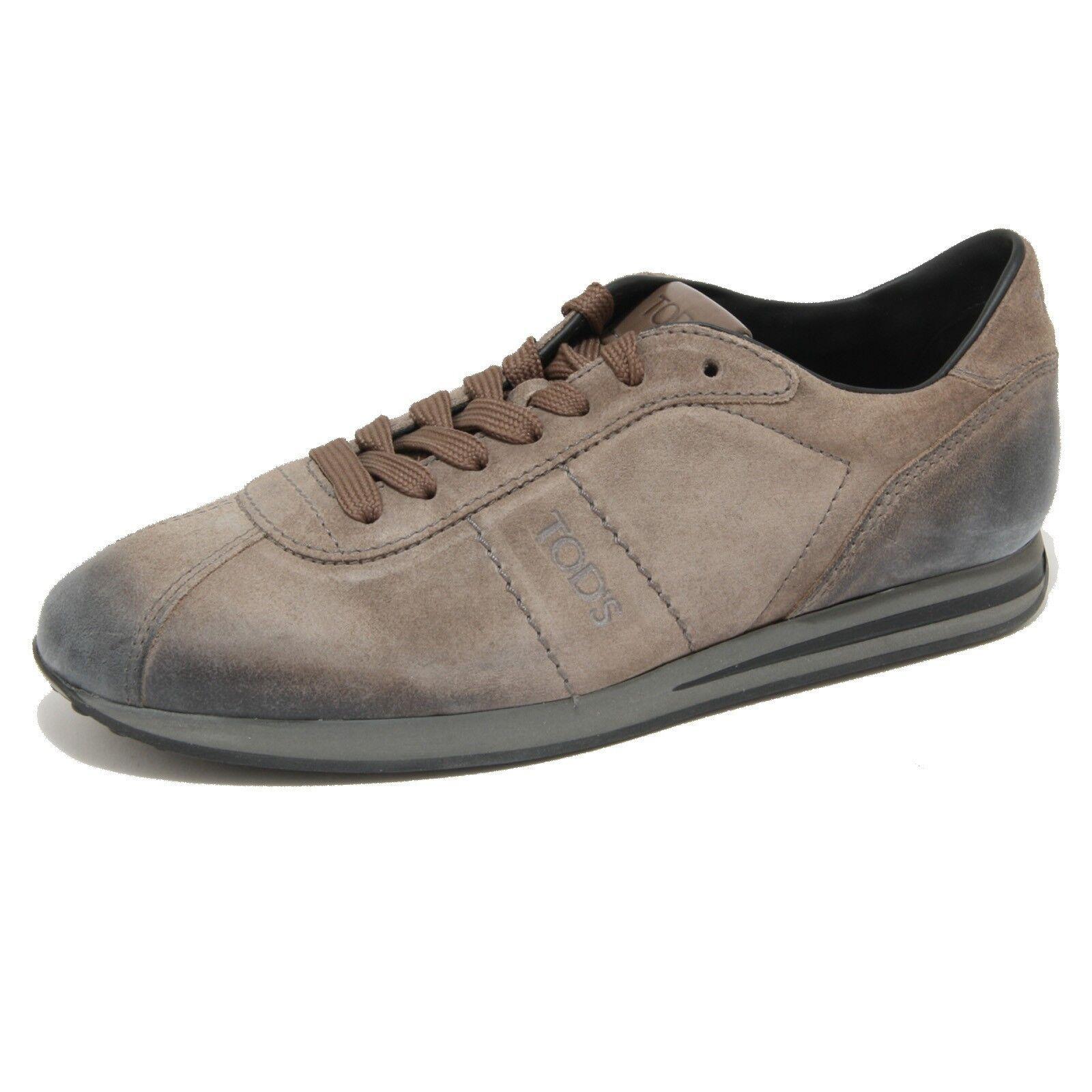 1806G sneaker tortora TOD'S ALLACCIATO SPORTIVO scarpa uomo shoes Uomo