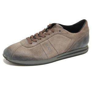 1806G-sneaker-tortora-TOD-039-S-ALLACCIATO-SPORTIVO-scarpa-uomo-shoes-men
