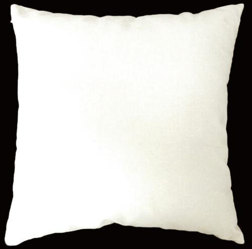 Aa133a Plain Blanc Crème en Toile Coton Coussin Housse//taie d/'oreiller Taille personnalisée