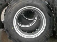 Four Ford 4000 Tractor 14.9x28,14.9-28 8 Ply Tires W/6 Loop Wheels