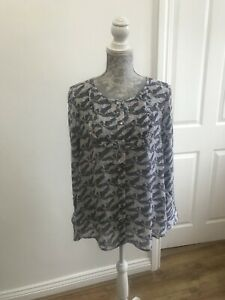 BNWT-White-Stuff-Trixie-Frill-Shirt-With-Floral-Pattern-UK-Size-12