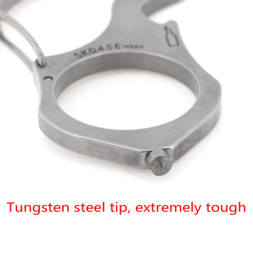 Stainless Steel outdoor camping survival tools key chain//ring//buckle edc RSs$