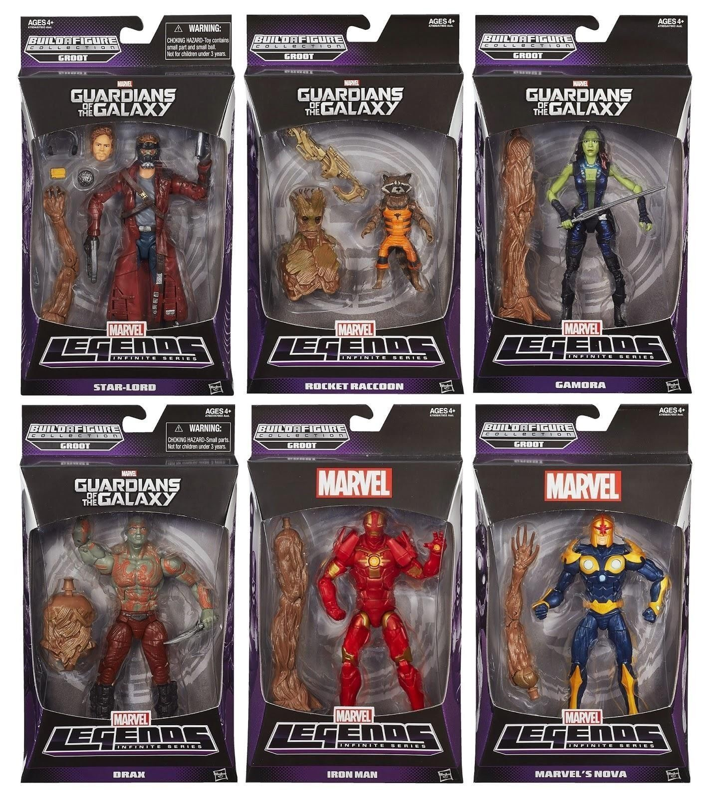 Marvel Legends Infinite Guardians of The Galaxy Build a Groot Brand New Non Mint