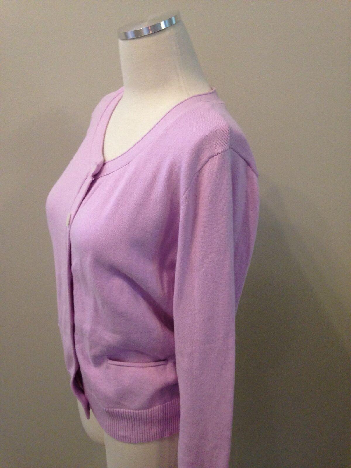 J. Jill Lilac Purple Pocket Cardigan Sweater Medi… - image 2