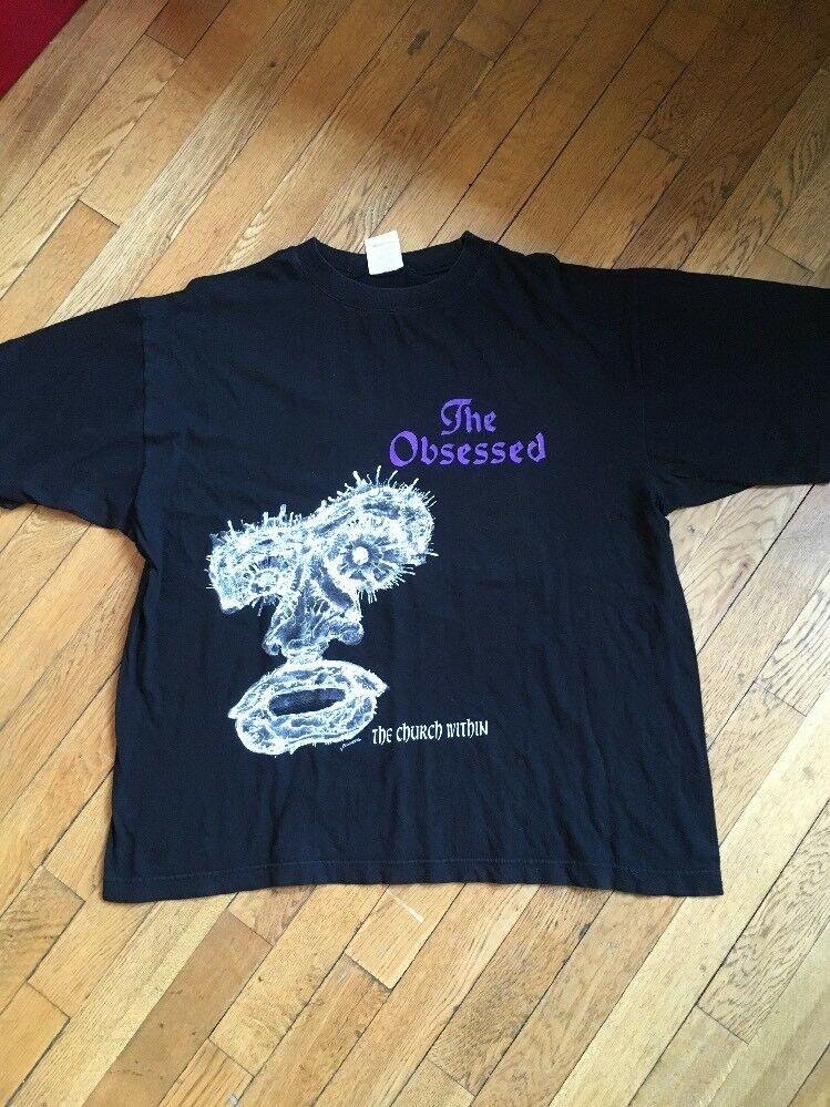 THE OBSESSED Vintage Shirt CONCERT 1994 The Church Within TOUR XL Doom Metal