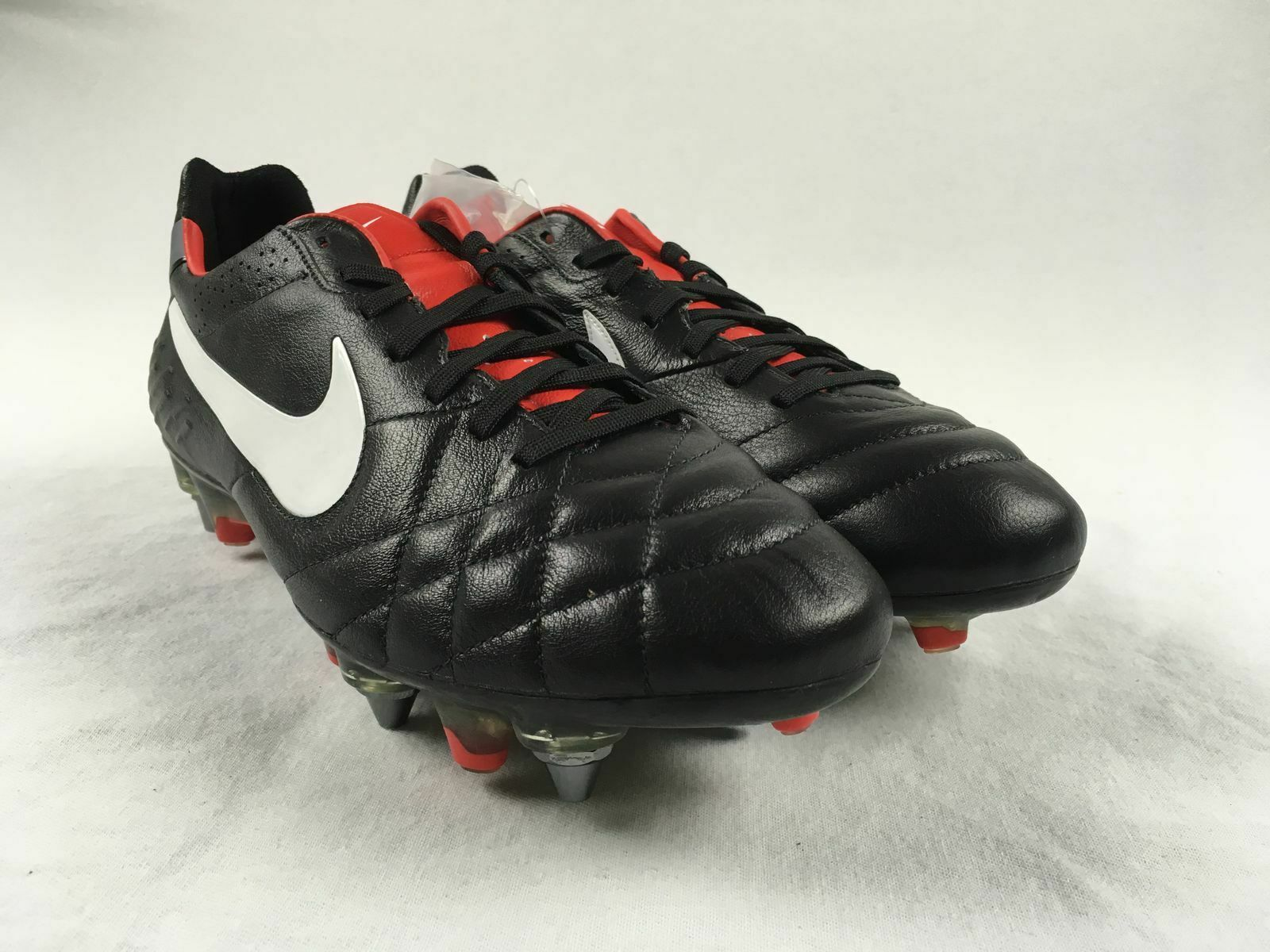 NEW Nike Tiempo Legend IV SG Pro - Black Red Cleats (Men's Multiple Sizes)
