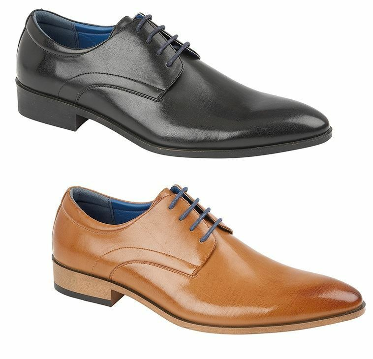 Mens Smart Formal Casual Fashion Leather Lace Up Brogue shoes