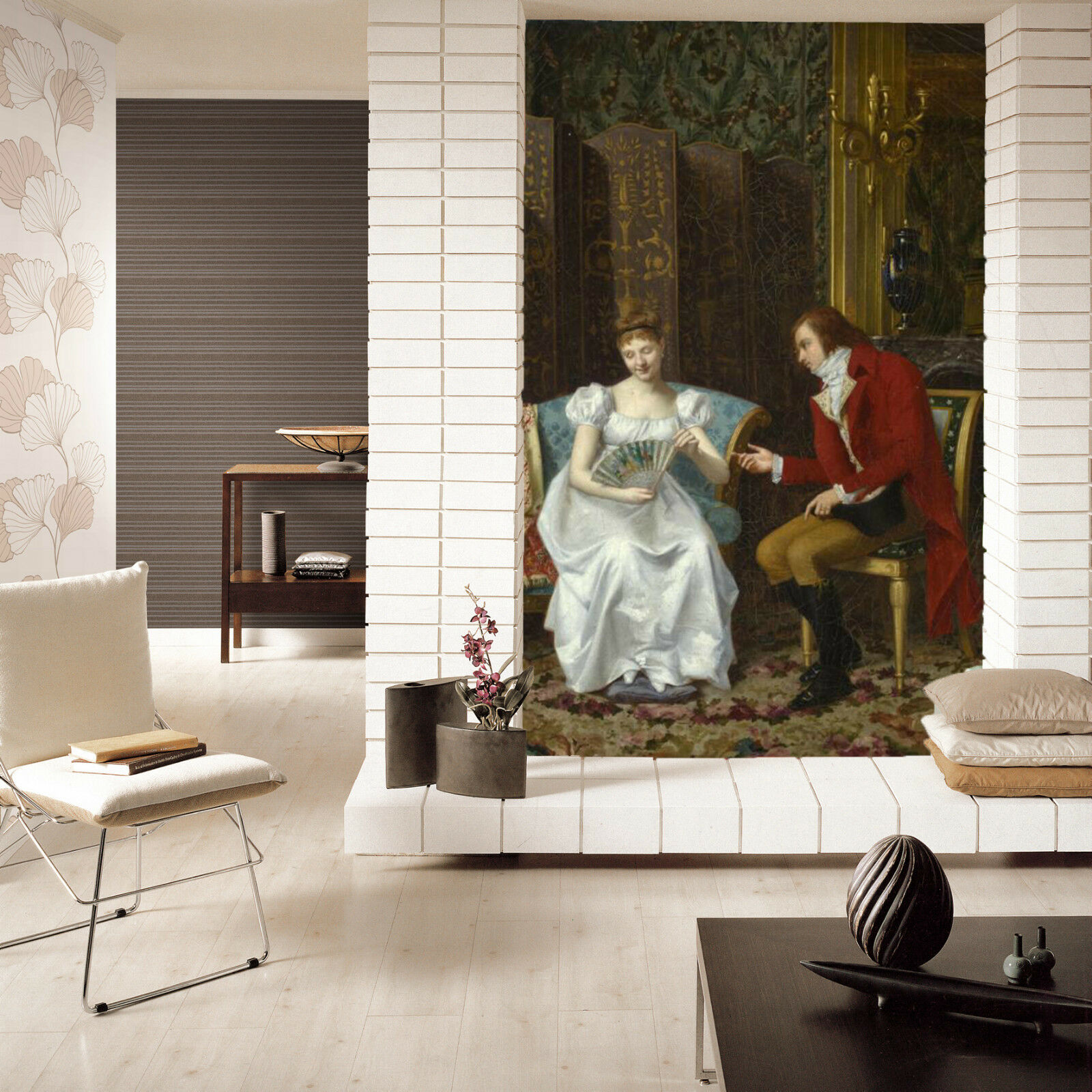 3D Nice Boy Girl Oil Painting 9 Wall Paper Wall Print Decal Wall AJ WALLPAPER CA