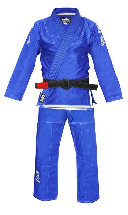 Gratis Fuji Bjj Gi Sport Sekai Blu Jiu Jitsu Brasiliano Gi Kimono Uniforme  8802