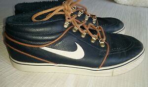 size 40 a861d d84e1 Image is loading Nike-SB-Stefan-Janoski-Mid-Premium-Dark-Obsidian-