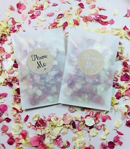 Glassine-Bags-amp-Throw-Me-Stickers-Petal-Biodegradable-Pink-Confetti-Eco-Fall