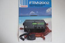 YAESU FTM-2002 (GENUINE BROCHURE ONLY)....RADIO_TRADER_IRELAND.