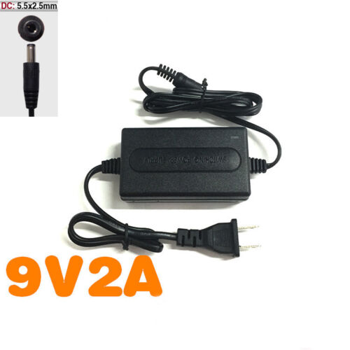 AC//DC US Plug 9V 2A 2000mA Power Supply Adapter For CCTV LED Security IP Camera