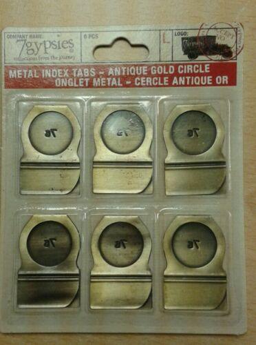 7Gypsies Metal index tabs Circle for Scrapbooking Cardmaking