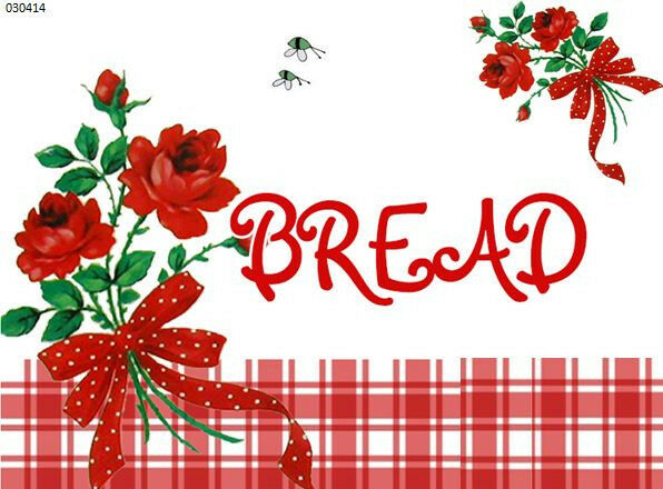 XL ReD RoSeS & PLaiD CounTrY BreaD BoX LaBeL ShaBby WaTerSLiDe DeCAL