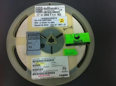 200pcs YAGEO 0805 100K  1/% SMD//SMT Chip Resistor RC0805FR-07