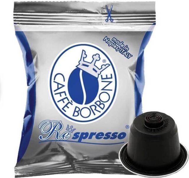 Caffè Borbone - Azul - 50 Capsulas de Cafè Respresso - Compatible Nespresso