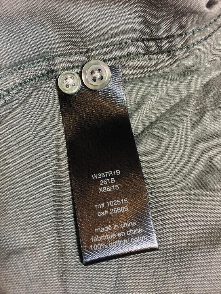 JOHN VARVATOS grau Fitted Lightweight Lightweight Lightweight 100% Cotton Roll Sleeve Shirt   | Merkwürdige Form  ec5d47