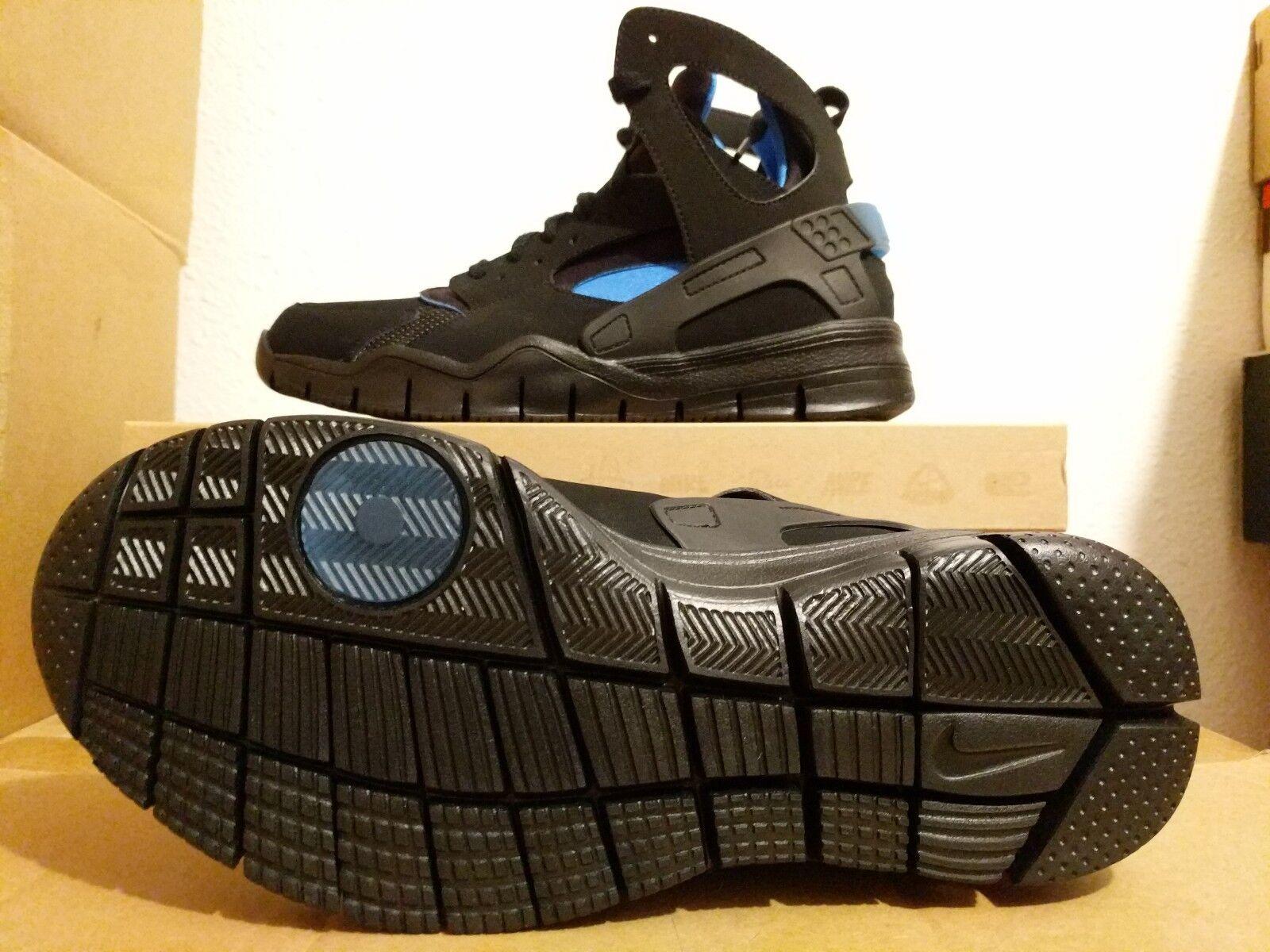 Nike Air Huarache Bball 2012 QS Black  bluee 501529-001 SZ 9
