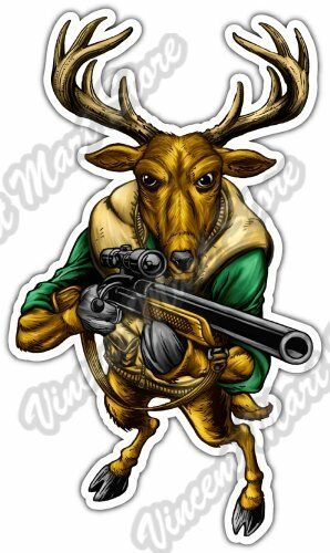 """8/"""" Vinyl Vehicle Fire Arms Hunting Graphic Decal Sticker Deer Antlers BROWNING"""