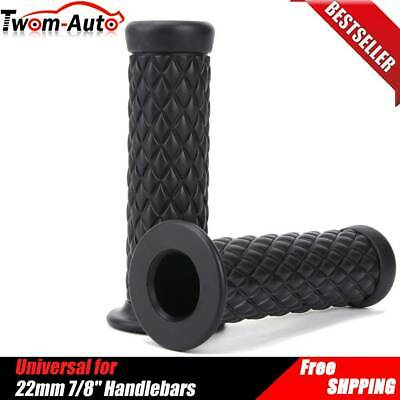 Silver Handlebar Hand Grips 1 Pair Motorcycle Hand Grips 7//8 Rubber Handlebar Grips with Bar End Cap for Most Motorcycles