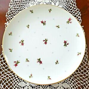 "Set of 4 -Sango China CHINTZ pattern 10 1/2"" Dinner Plates - Pink Rosebud/Gold T"