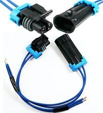 Assembled Delphi 2 Pin Metri Pack 150series 18ga Male Amp Female Connector Pigtail
